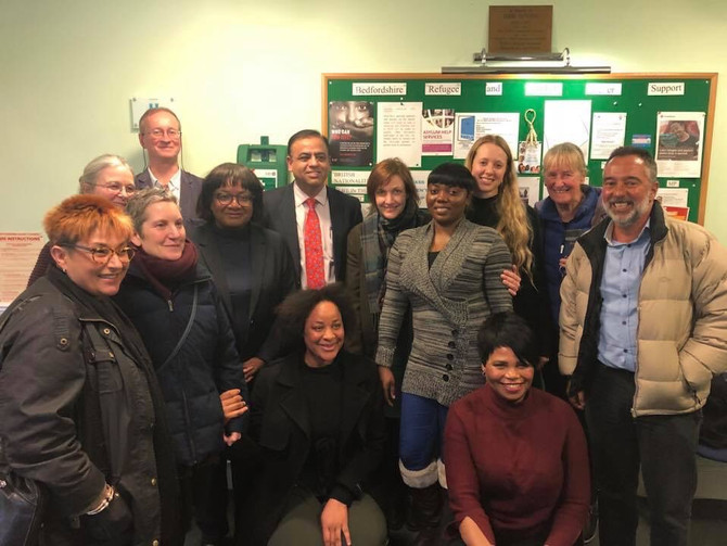 Diane Abbott and Shami Chakrabarti visit Yarl's Wood and BRASS