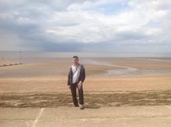 On the beach!