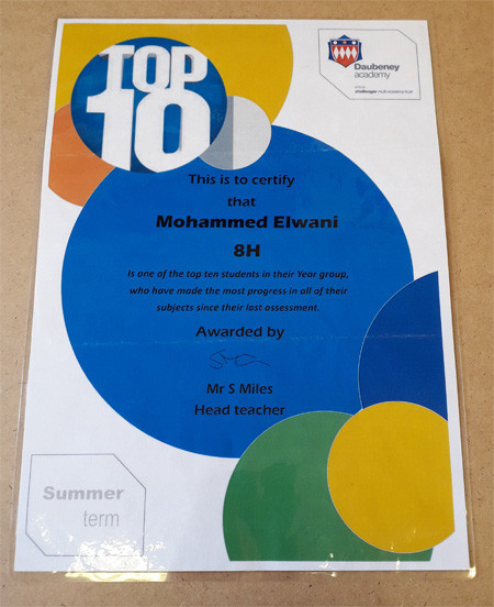 A Top Ten student