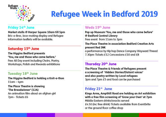 Refugee Week in Bedford 2019