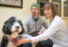 Haarstad Veterinary Dermatology - treating a dog with pet owner