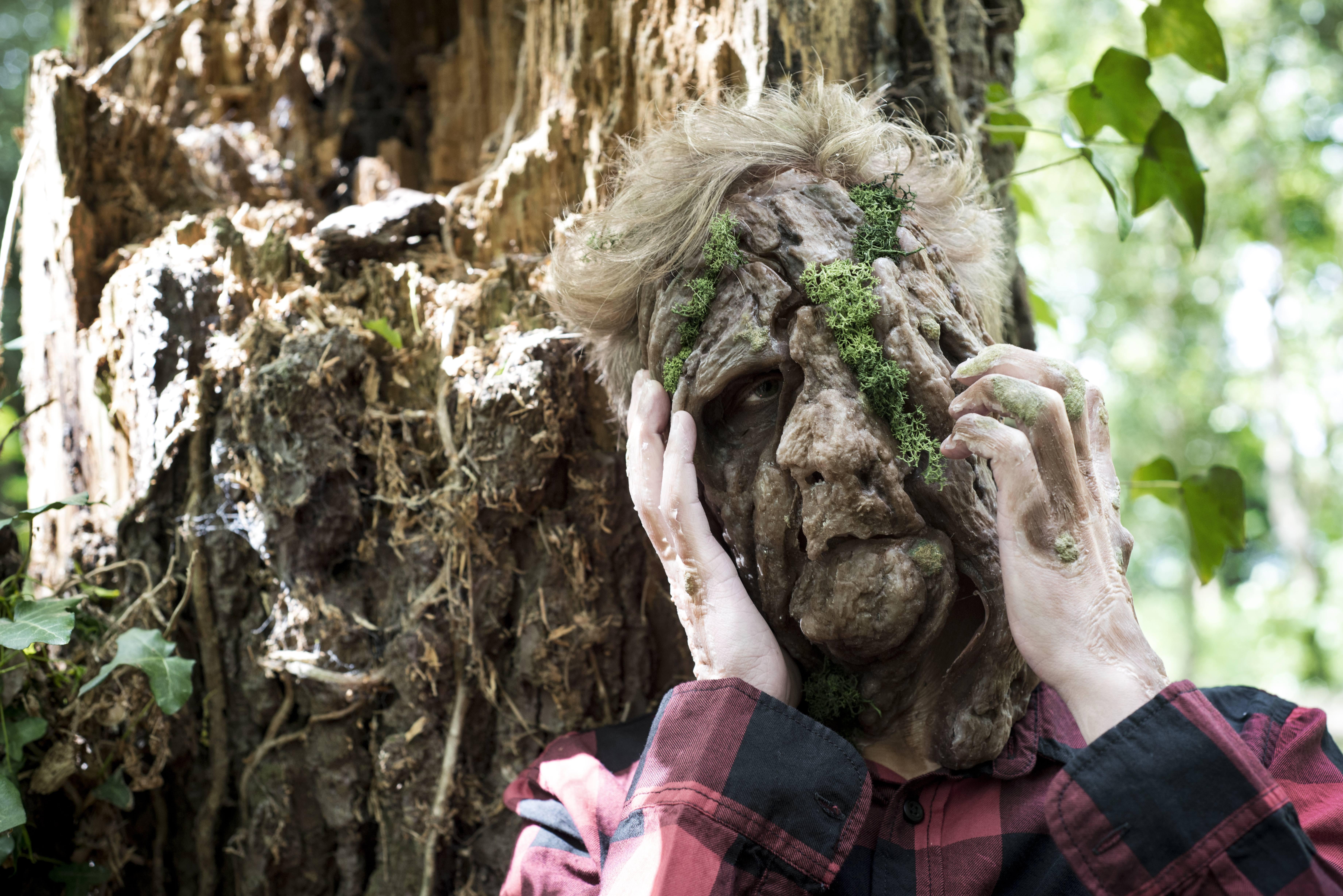 Tree Man makeup