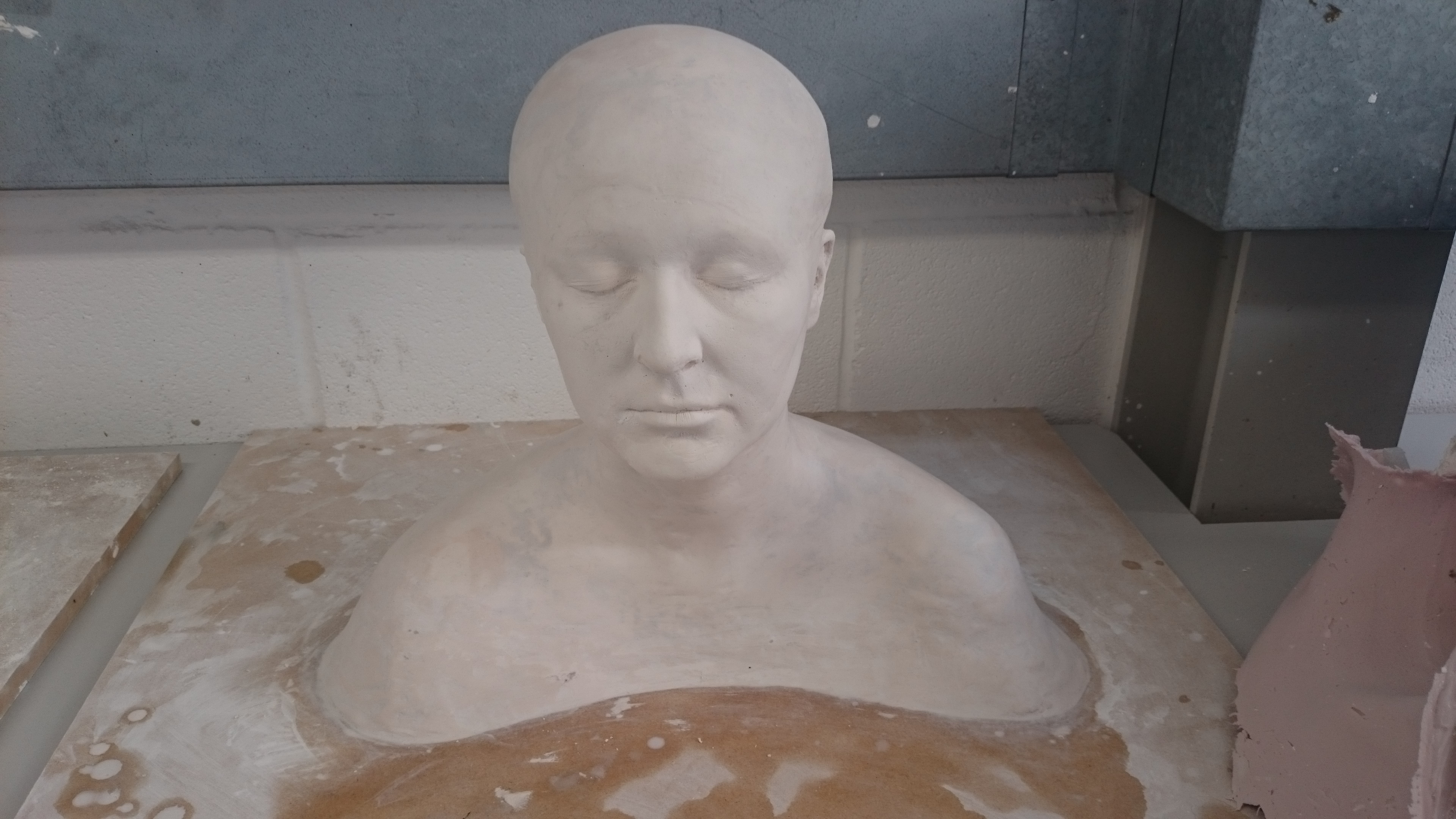 Cleaned up plaster life cast