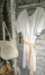 shabby linen dress