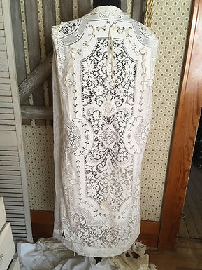Exclusive,One of a Kind, Edwardian Full Length Antique Net Lace Duster
