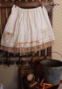 beige ruffle skirt antique ruffle lace bohemian flare