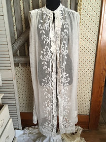 mesh lace duster