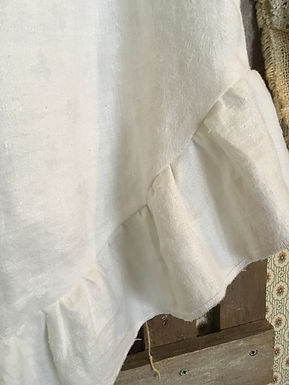 feather linen top