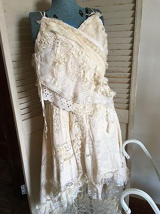 gypsy boho beach wedding dress