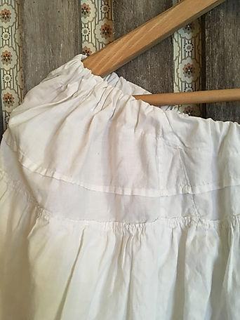 beige ruffle skirt