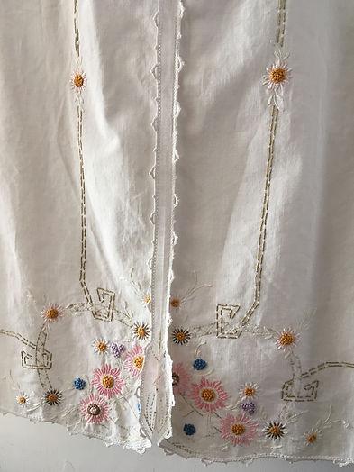 liza linen embroidered dress
