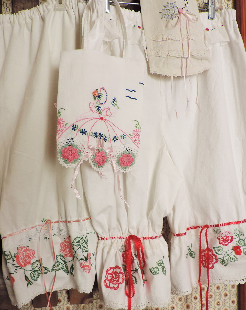 New antique cotton Bloomers Blooming Roses