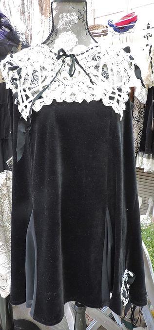 bo ho velour tunic dress