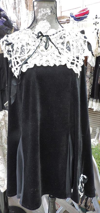 boho velour dress tunc