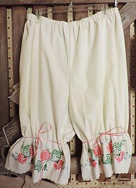 Peach Rose Bloomer Vintage Cotton Antique Lace
