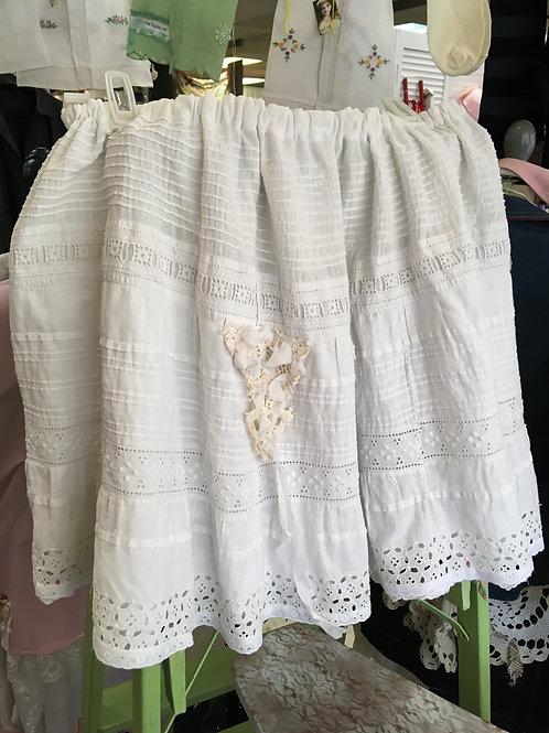 Antique Eyelet Lace Skirt