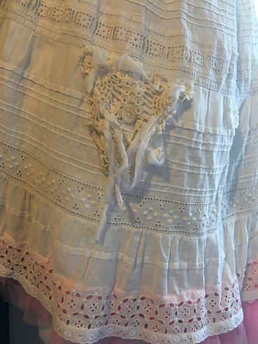 pink ruffle skirt