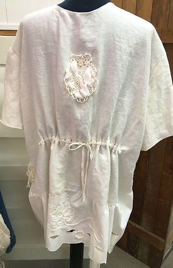 french linen top tunic jacket