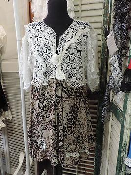 leaopard ruffle dress