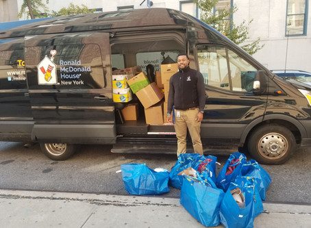 """The Ella Baker School Community Donates """"Most Needed"""" Items to the Ronald McDonald House Pantry Prog"""
