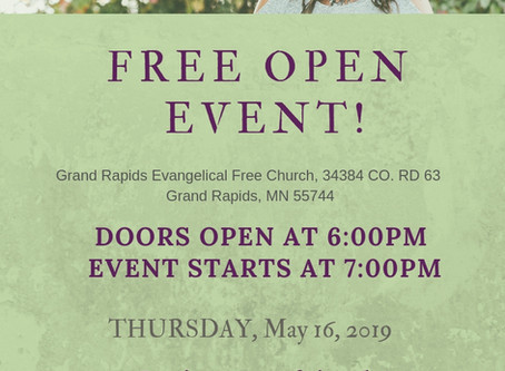 OPEN EVENT: Thursday, May 16, 2019