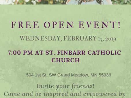 Open Event! February 13, 2019