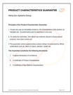 Product Characteristics Guarantee pg3.jp