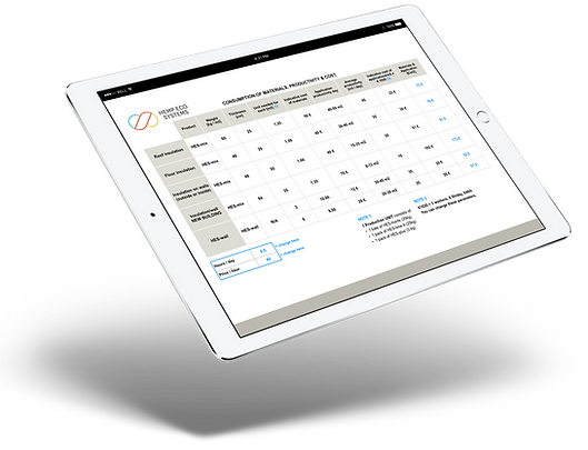 Budget and Material Calculator by Hemp Eco Systems