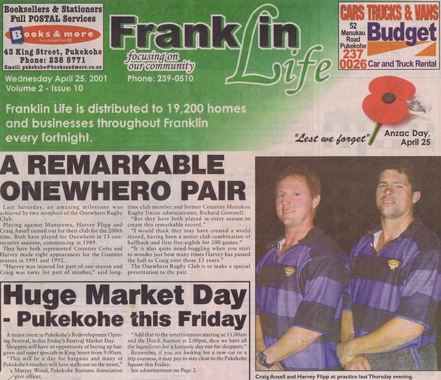 2001 ORFC Double Centurions