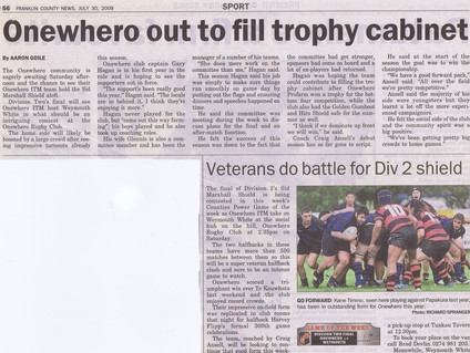 2009 ORFC Div 2 Final Preview