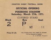 Pukekohe Stadium Opening Ticket 1971