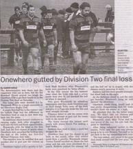 2009 ORFC Div 2 loss 4 Aug
