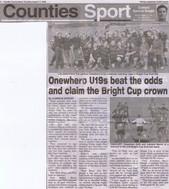 2006 ORFC U19 Winners 17 Aug