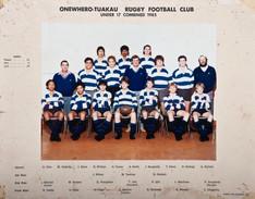 1985 ORFC-Tuakau U17