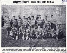 1963 ORFC Seniors