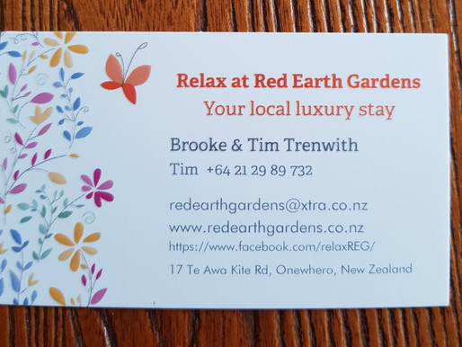 Relax at Red Earth Gardens on Centenary Weekend
