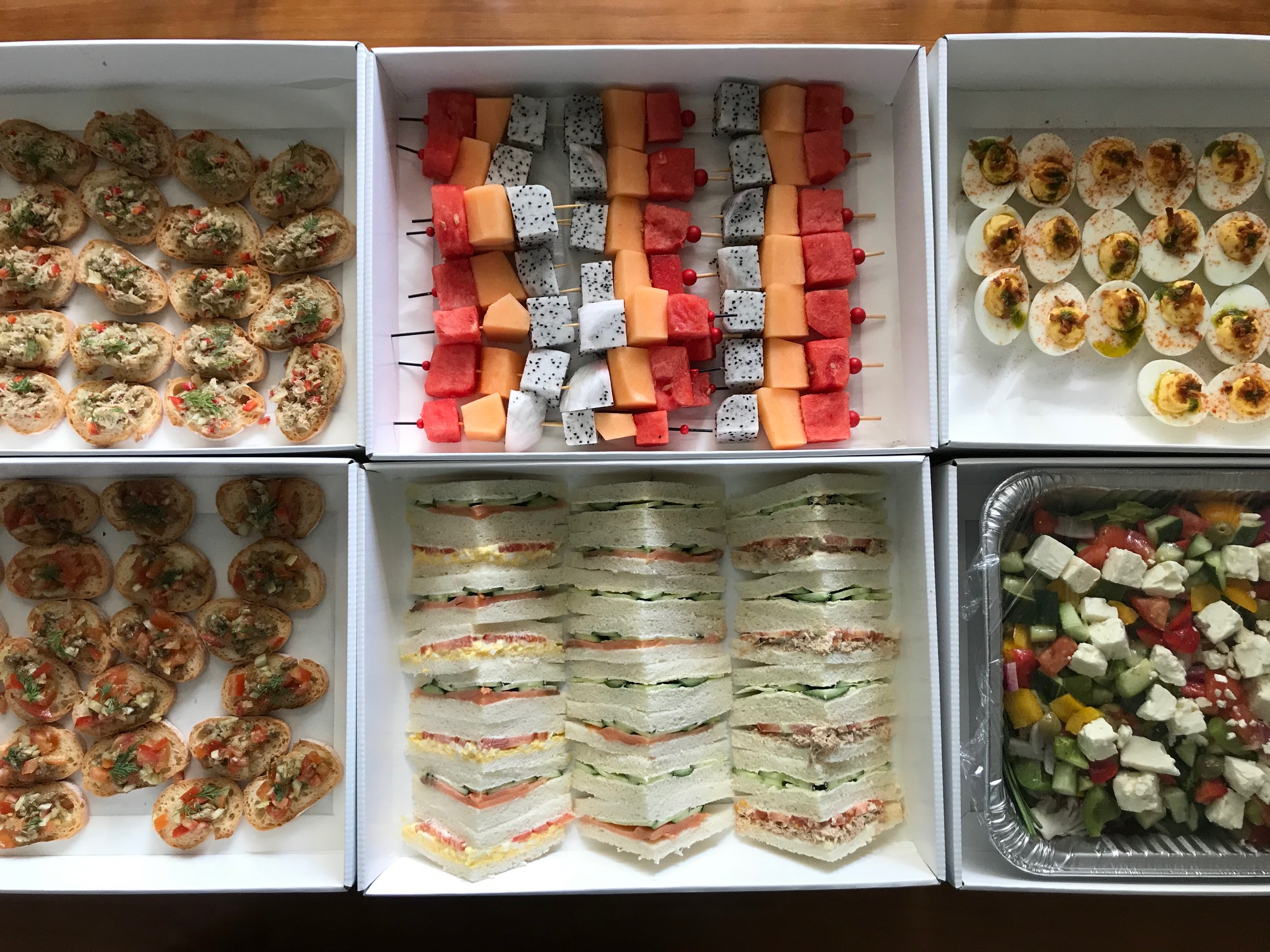 Finger food delivery