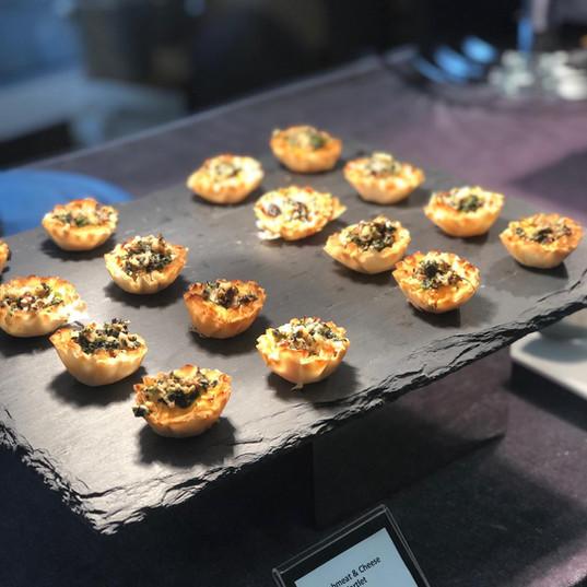 Crabmeat, wild mushroom & cheese tartlet