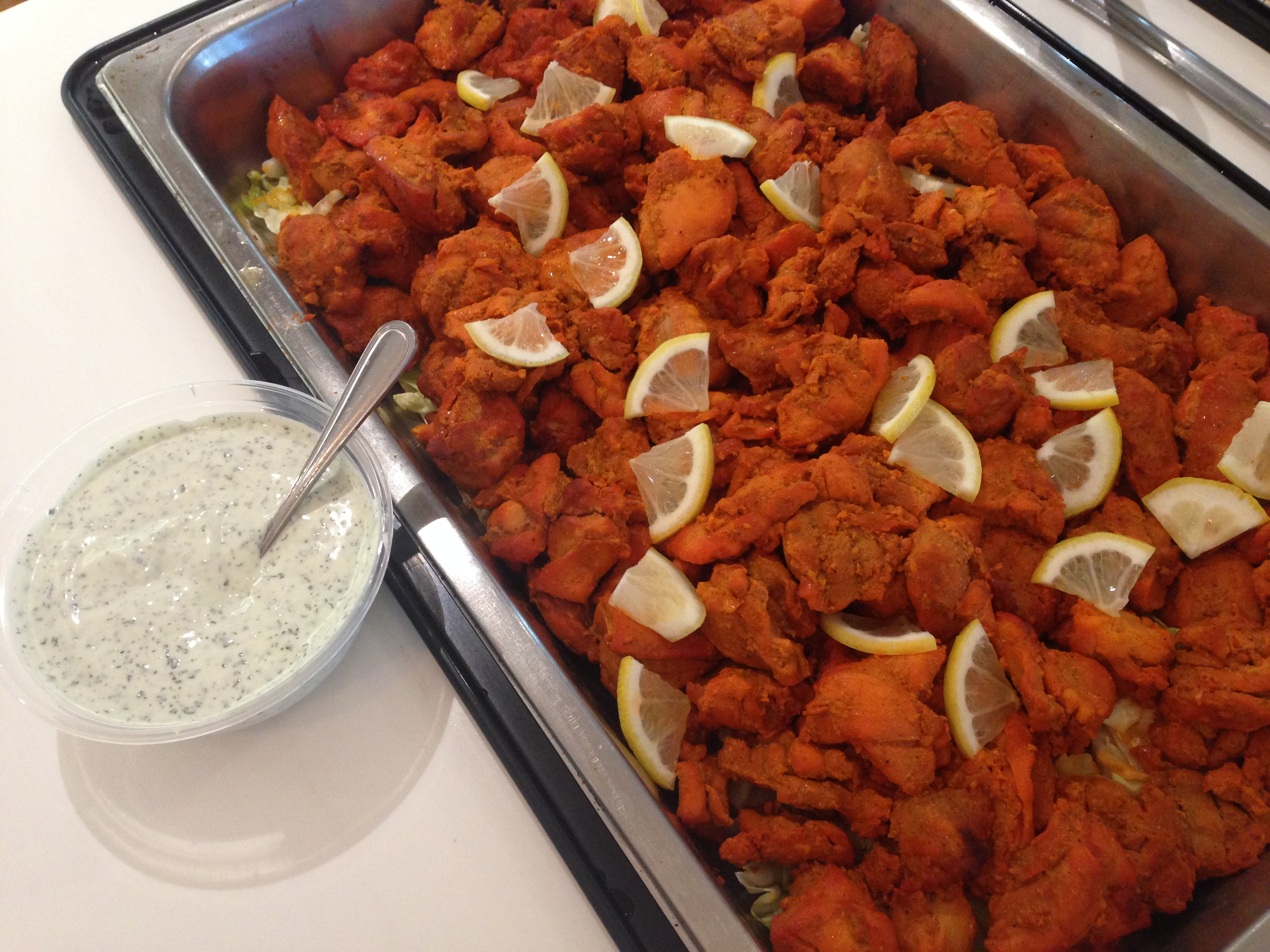 Tandoori chicken with garlic mayo