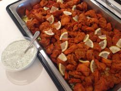 Tandoori chicken with garlic mayo