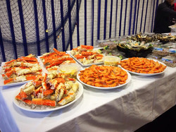 seafood buffet for a lingerie firm