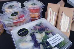 Packed Sandwich, Salad & Fruit Box