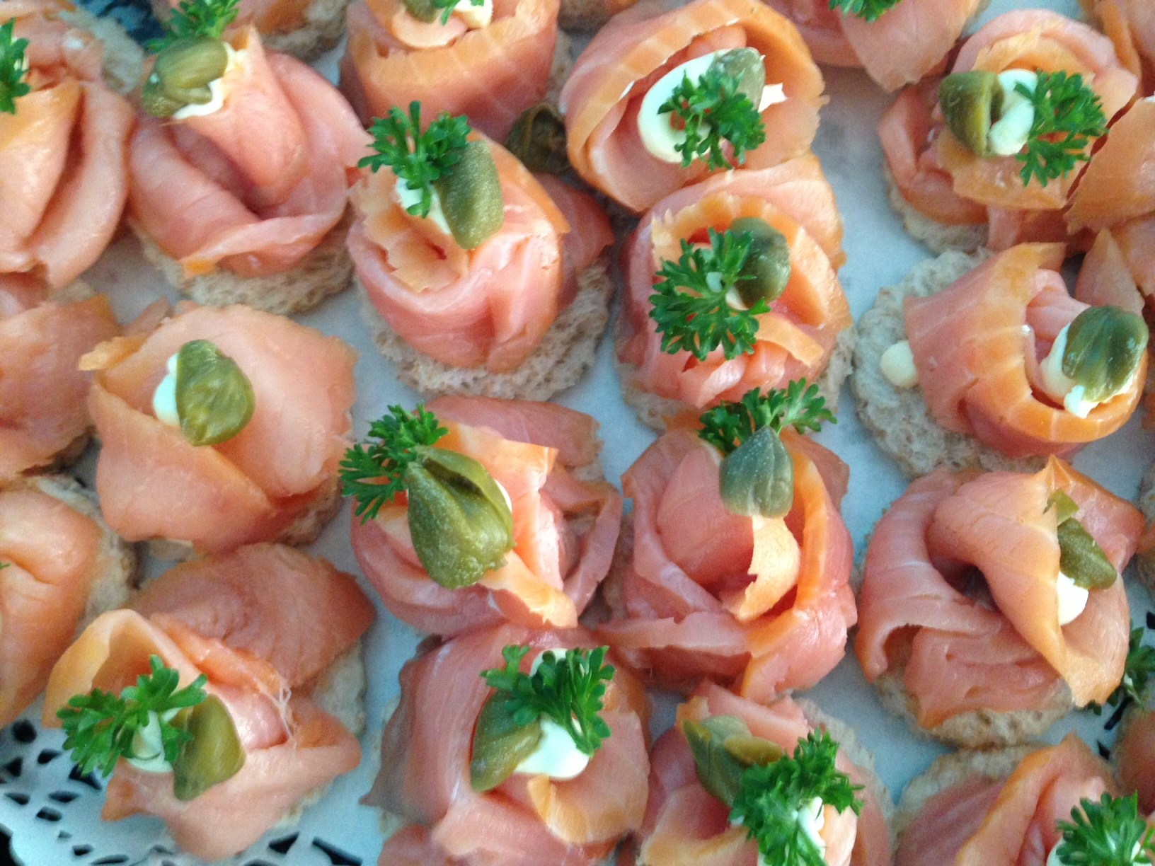 Smoked Salmon & Cream Cheese Canape