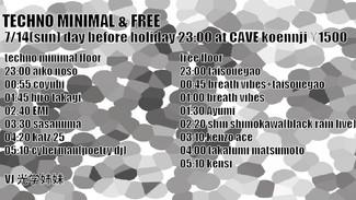 7/10 Techno minimal & free
