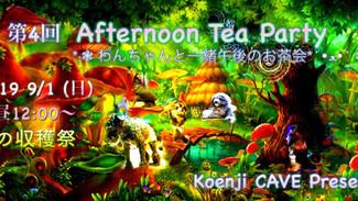 9/1 第4回 Koenji CAVE Afternoon tea party *:❃ わんちゃんと一緒午後のお茶会*´•ﻌ•` ❃♬