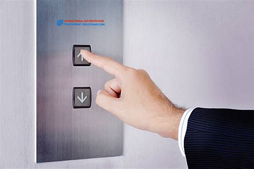 Elevator push button Antibacterial cover  - Pack of 10x