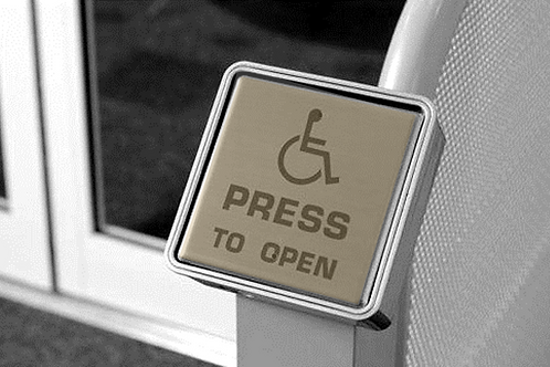 Disabled push button Antimicrobial film