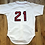 Thumbnail: Vintage 80's Rawlings Boston Red Sox Roger Clemens Authentic Jersey Sz 42