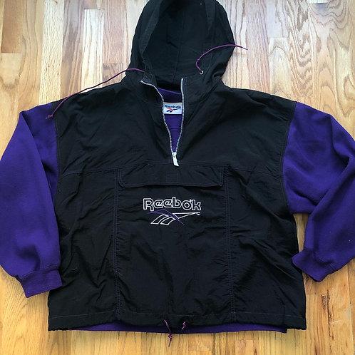 Vintage Reebok Sweatshirt Jacket Sz L