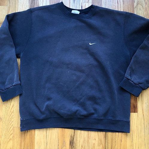 Vintage Nike Mini Check Crewneck Sweatshirt Sz L